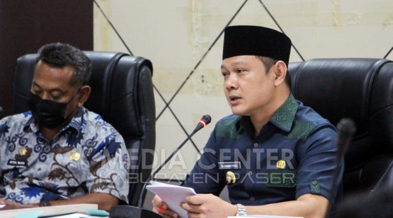 Bupati Paser Gelar Rapat Perdana dengan Kepala Perangkat Daerah