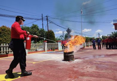Damkar Paser Berikan Simulasi Pemadaman Api di Rutan Kelas IIb